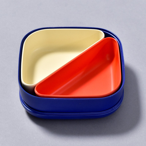 BENTO BOX ROYAL BLUE open