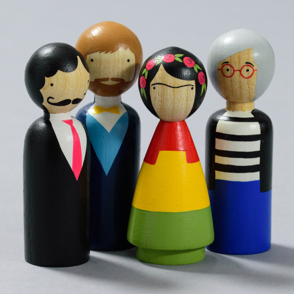 DOLLS MODERN ARTIST SET OF 4