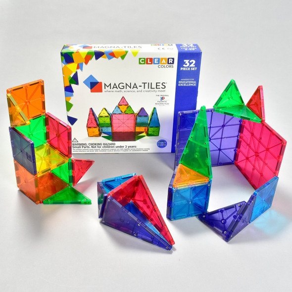 MAGNA-TILES CLEAR COLOR STARTER SET 32 PIECE