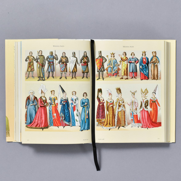 Interior of book The Costume History