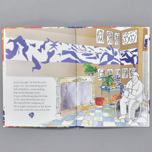 Interior of book Swimmers: Paper Cut-outs With Matisse
