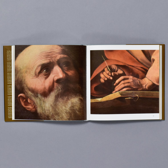 Interior of book Caravaggio