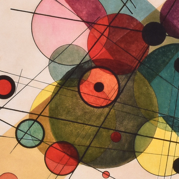 Vasily Kandinsky Circles in a Circle Mini Poster detail
