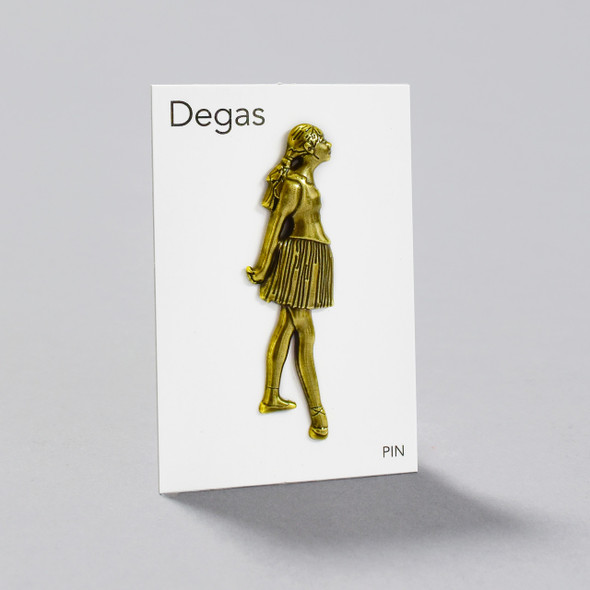Degas Little Dancer, Aged Fourteen Pin on card