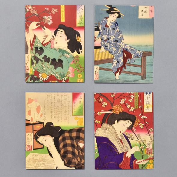 Yoshitoshi Female Beauty Notecard Set, 4 notecards