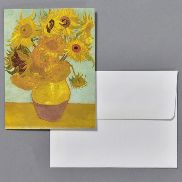 van Gogh Sunflowers Notecard Set, notecard with envelope