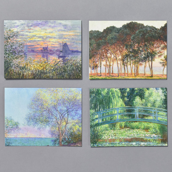 Monet Notecard Set, 4 notecards from set