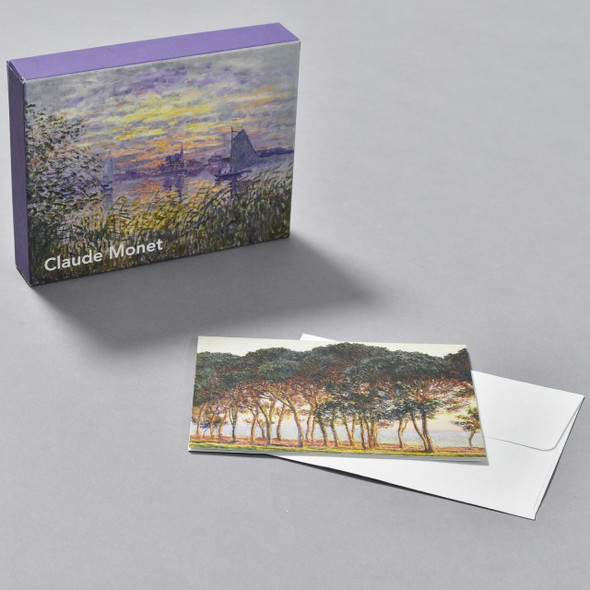 Monet Notecard Set, box with notecard and envelope
