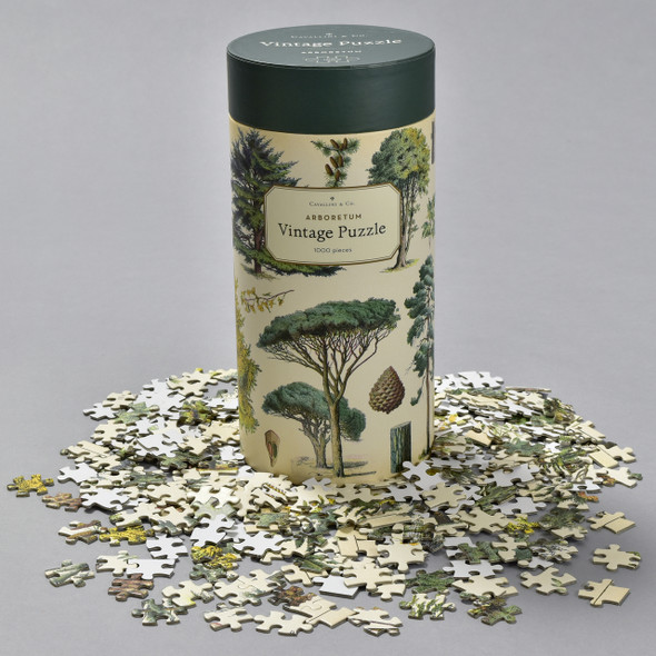 Arboretum Vintage Puzzle box with pieces