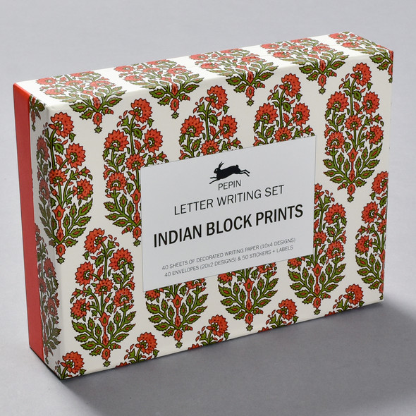 Indian Block Prints Letter Writing Set, box
