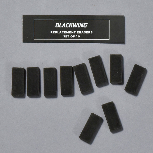 Blackwing Eraser  Replacements:  Black