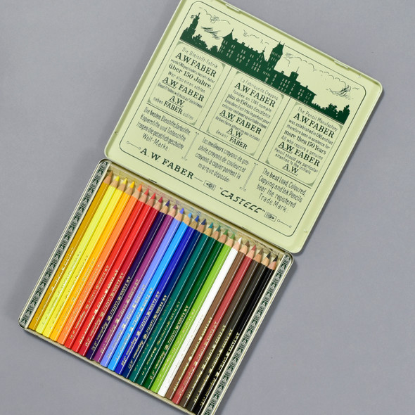 Faber-Castell Polychromos Color Pencils 111th Anniversary Tin open
