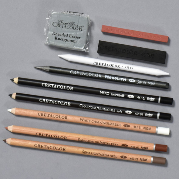 Cretacolor Artino Drawing Set contents
