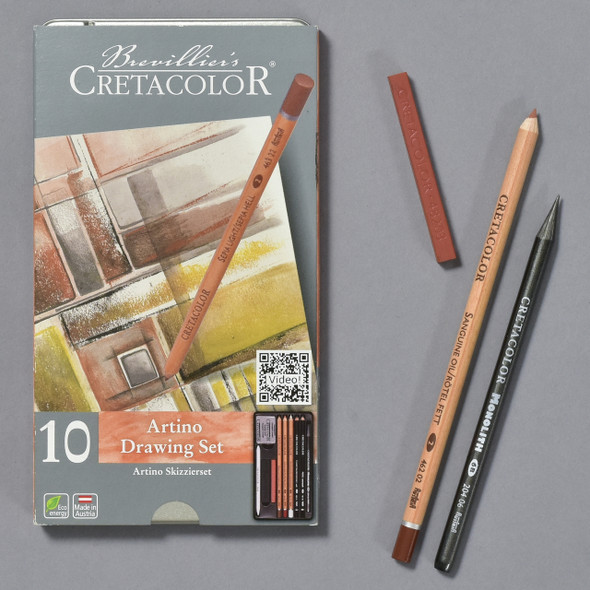 Cretacolor Artino Drawing Set front with some of the pencils