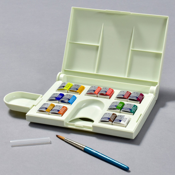 Cotman Compact Watercolor Set, open