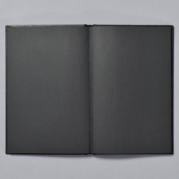Premium Black Paper Sketchbook open pages