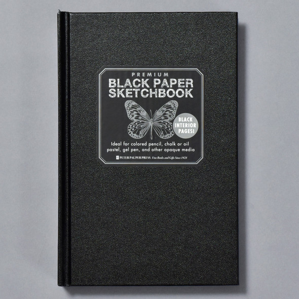 Premium Black Paper Sketchbook front
