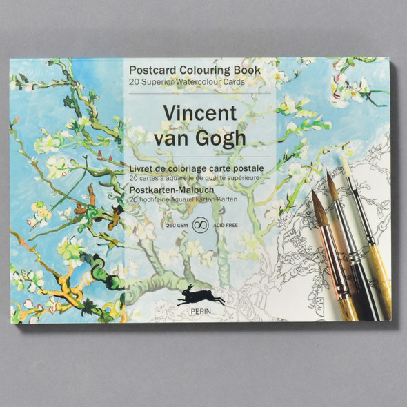van Gogh Postcard Coloring Book