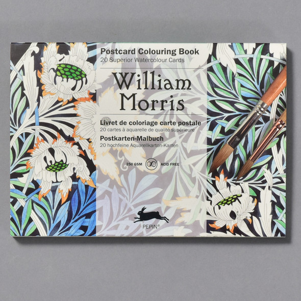 William Morris Postcard Coloring Book front