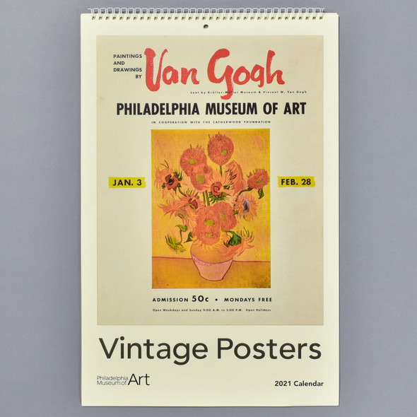 Vintage Exhibition Posters 2021 Wall Calendar front