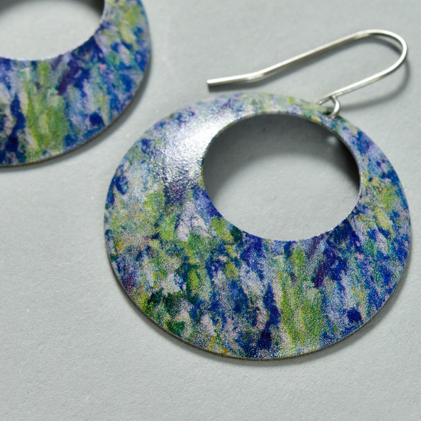 Monet Bend in the Epte River Earrings close up