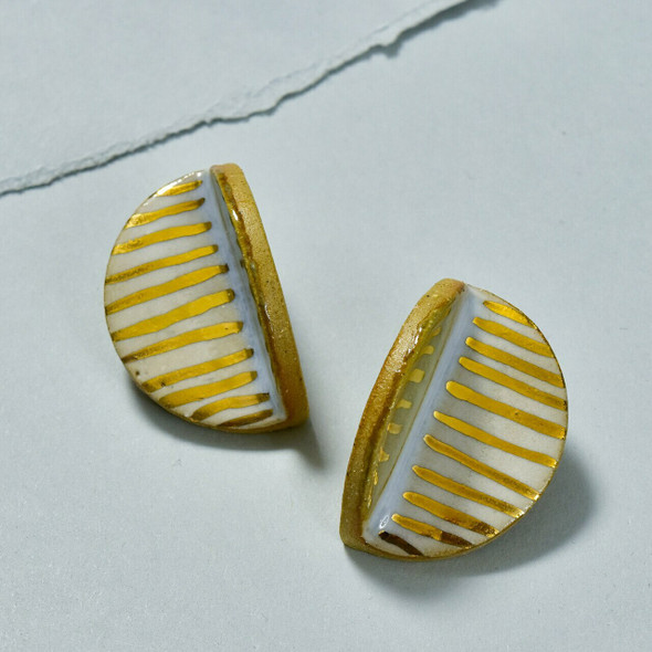 Clay Fold Statement Stud Earrings by Curious Clay
