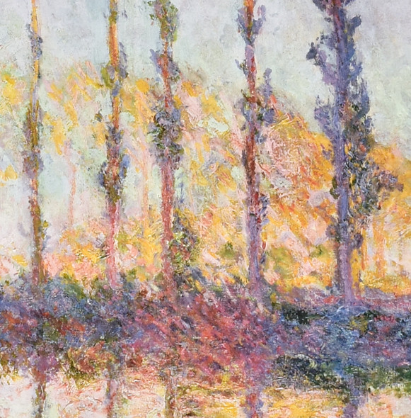 Claude Monet Poplars, End of Autumn, 1891 Mini Poster detail