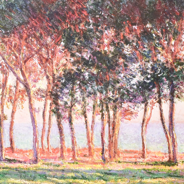 Claude Monet Under the Pines Evening Mini Poster, detail