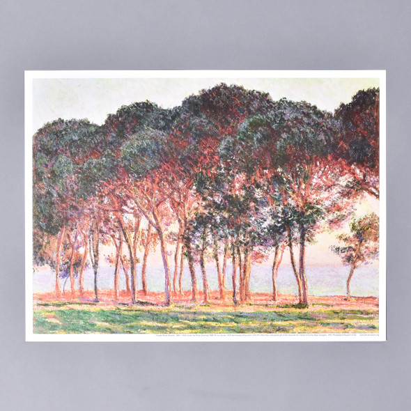 Claude Monet Under the Pines Evening Mini Poster