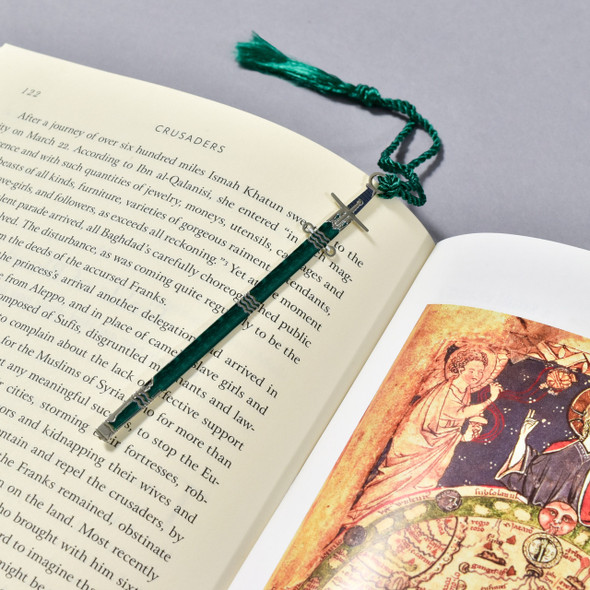 Pallache (Sword) with Scabbard Bookmark in a book
