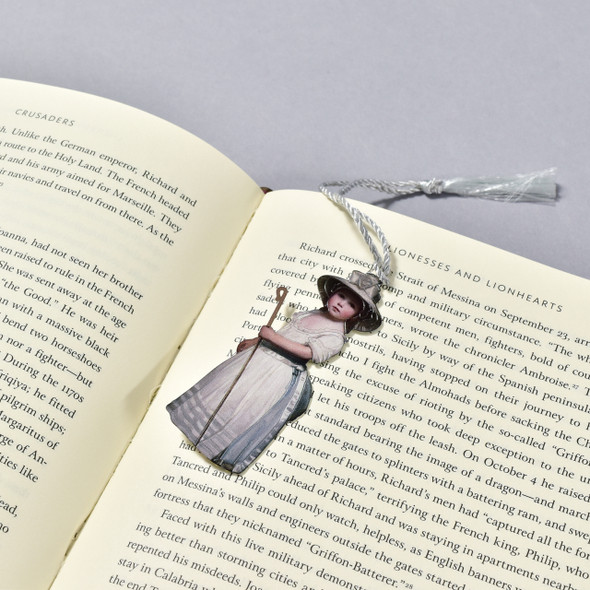 George Romney Shepherd Girl (Little Bo-Peep) Bookmark in a book