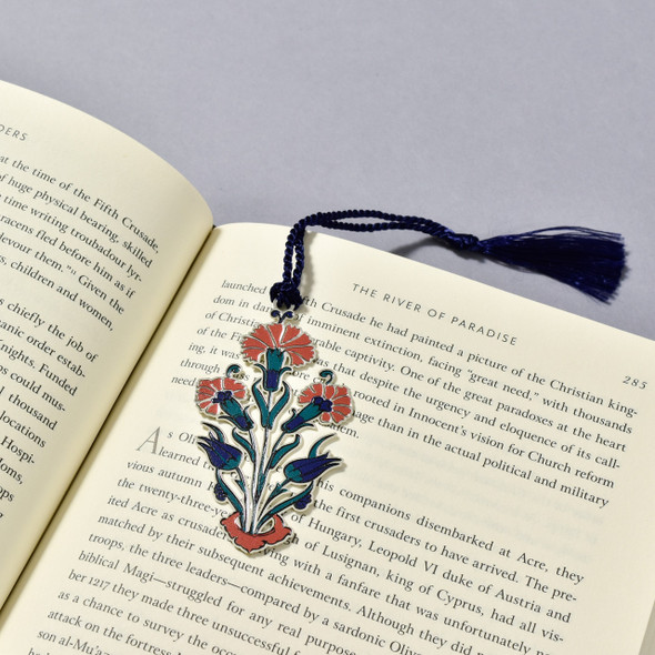 Iznik Bookmark in book