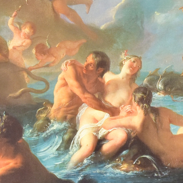 Noel-Nicolas Coypel The Abduction of Europe Mini Poster detail