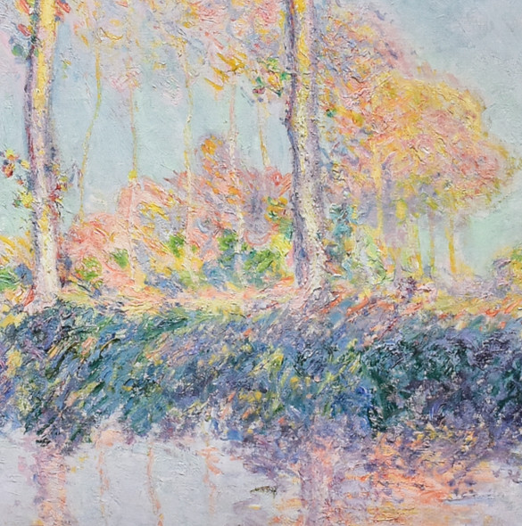 Claude Monet Poplars, Three Trees in Autumn, 1891 Mini Poster, detail
