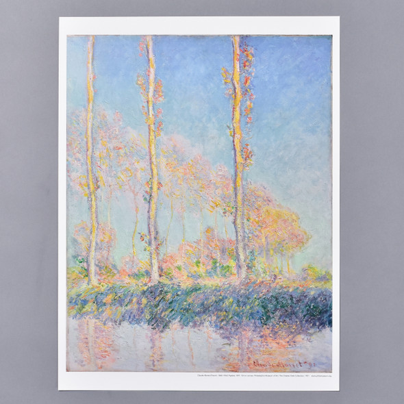 Claude Monet Poplars, Three Trees in Autumn, 1891 Mini Poster