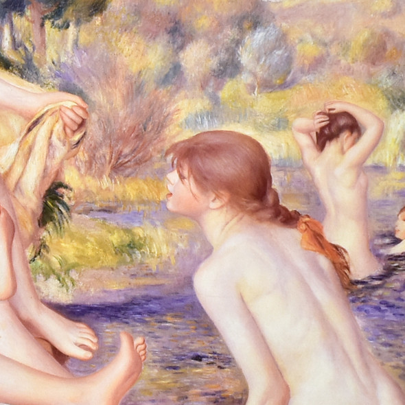 Pierre-Auguste Renoir Large Bathers Mini Poster - detail