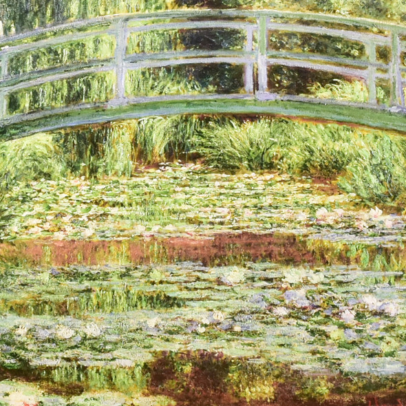Claude Monet The Japanese Footbridge and Water Lily Pool, Giverny Mini Poster, detail