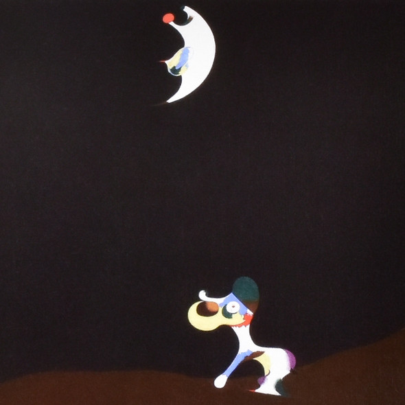 POSTER MIRO DOG BARKING AT THE MOON - detail