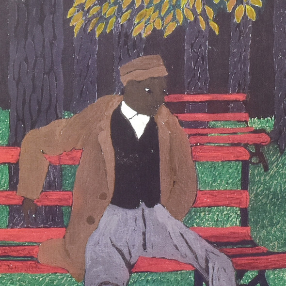 POSTER PIPPIN THE PARK BENCH (Man on a Bench) detail