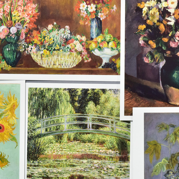 Museum Impressionist Florals Postcard Set, close up