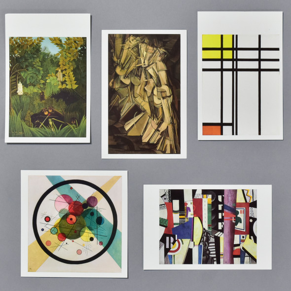 Museum Twentieth Century Modern Postcard Set, all five in grid
