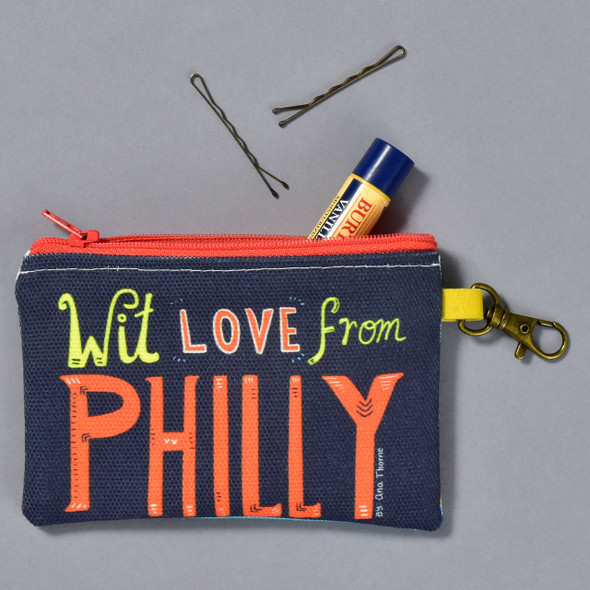 Philly Philly Pouch with items in it