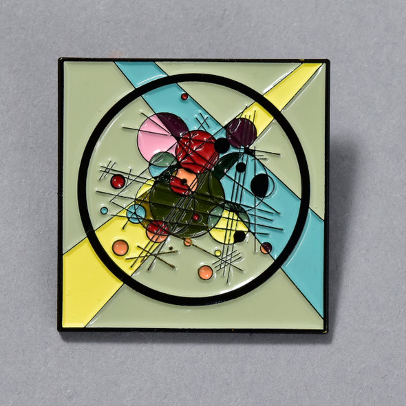 Kandinsky Circles in a Circle Enamel Pin