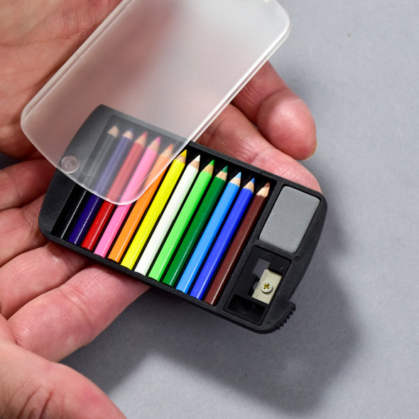 Mini Color Pencil Set in hands