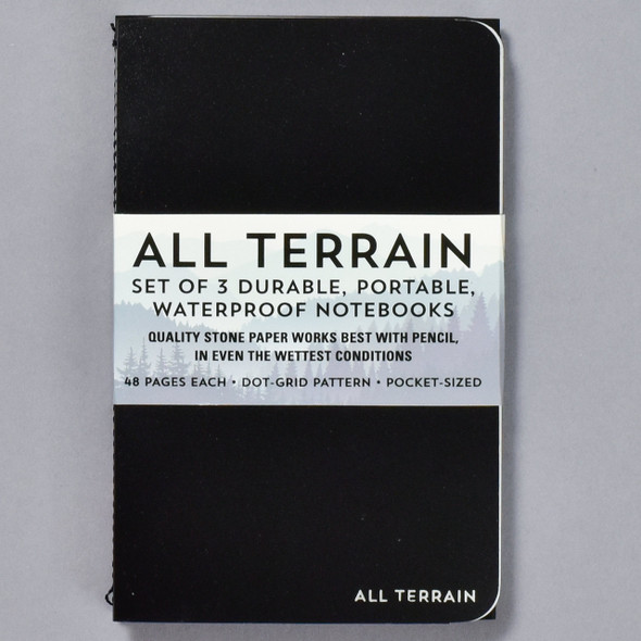 All Terrain Waterproof Notebook (Set of 3) front with belly band