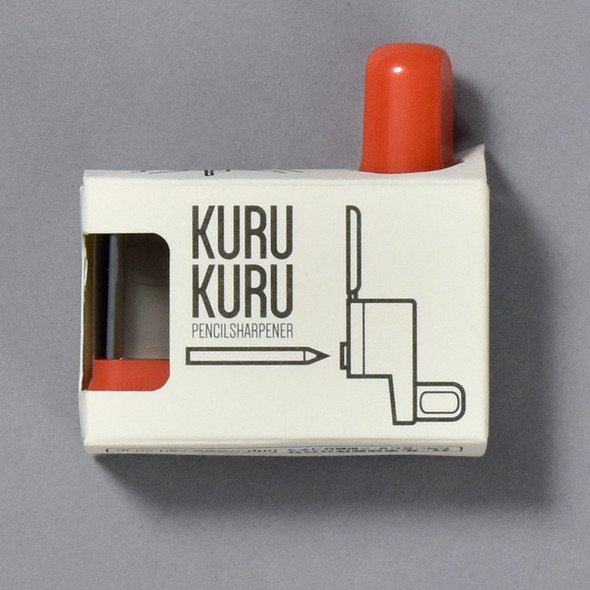 Kuru Kuru Pencil Sharpener, in packaging