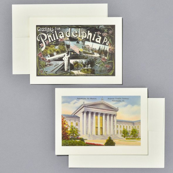 Vintage Philadelphia Postcard Notecard Set, cards and envelopes