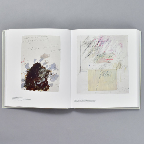 Cy Twombly: Making Past Present, interior of book