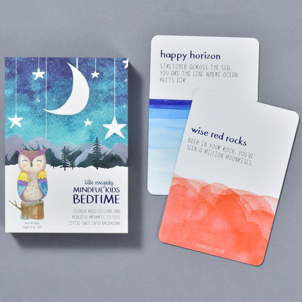 Mindful Kids Cards for Bedtime, box and cards
