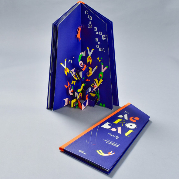 Acrobat Family Pop-up Book, in use and flat